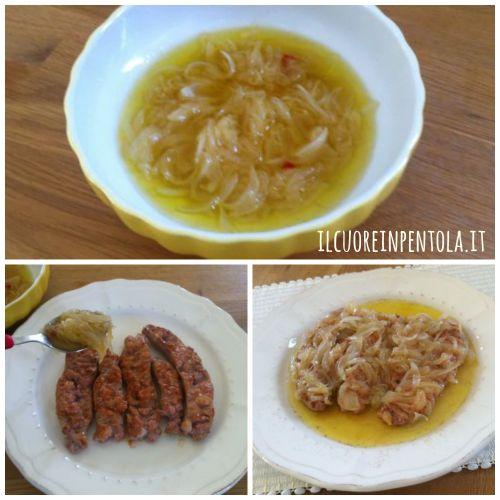 condire-salsiccia-con-cipolle-agrodolce
