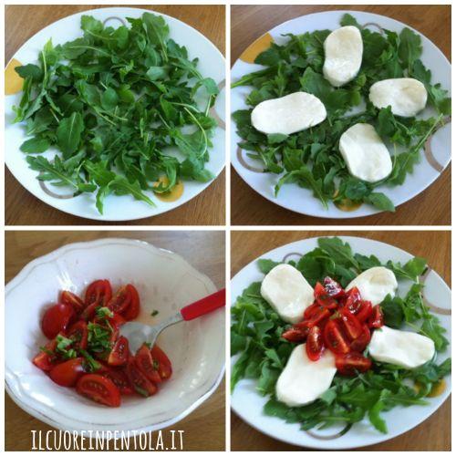 preparare-insalata-rucola-salmone-mozzarella