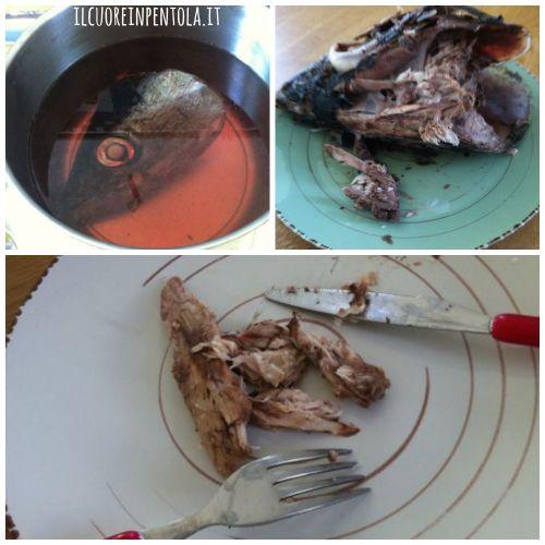 cucinare la testa dell'alalunga
