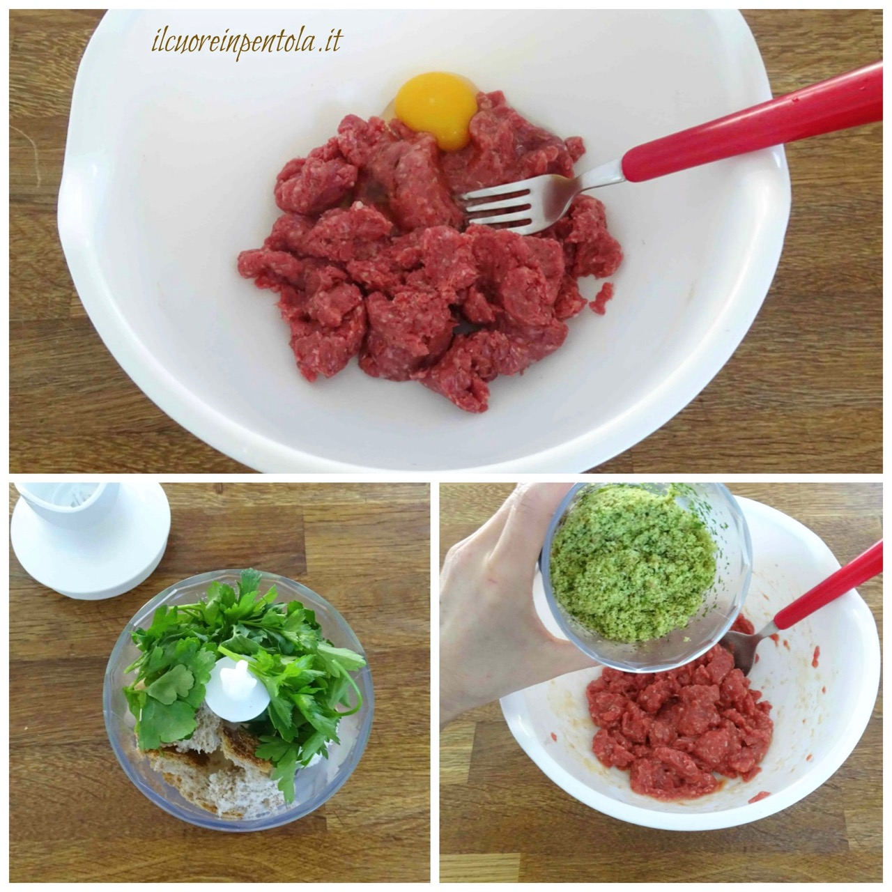 insaporire carne macinata