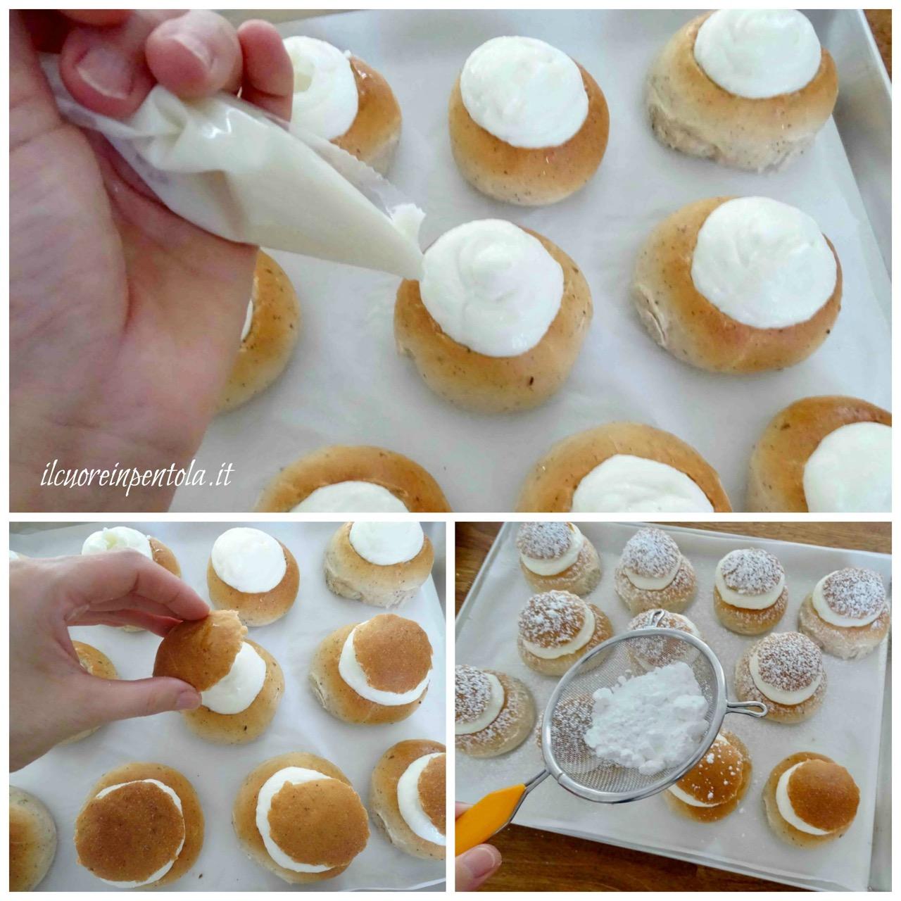 farcire biscotti con crema