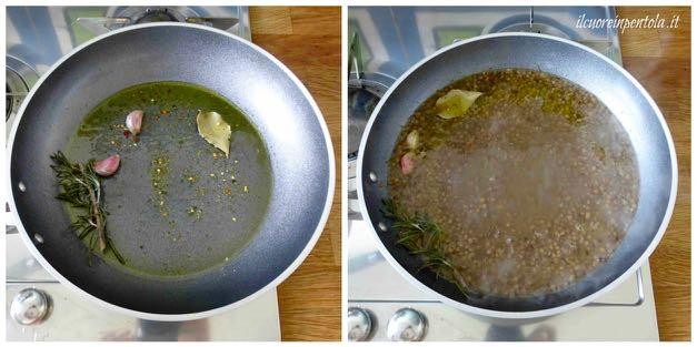 insaporire lenticchie