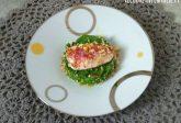Filetto di triglia su crema di broccoli e pangrattato agrumato