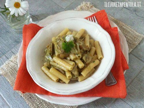 Pasta carciofi e gorgonzola
