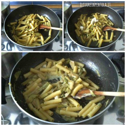 pasta_carciofi_e_gorgonzola_mantecare_pasta