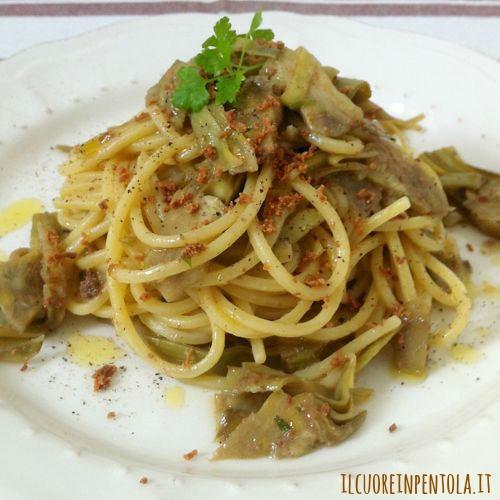 spaghetti-carciofi-e-bottarga