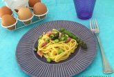 Carbonara di asparagi e pancetta