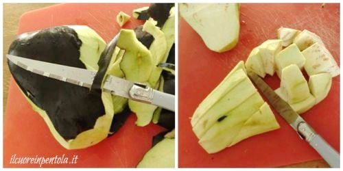tagliare melanzane
