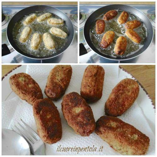 friggere crocchette di melanzane