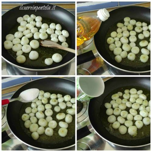 cuocere cipolline in agrodolce