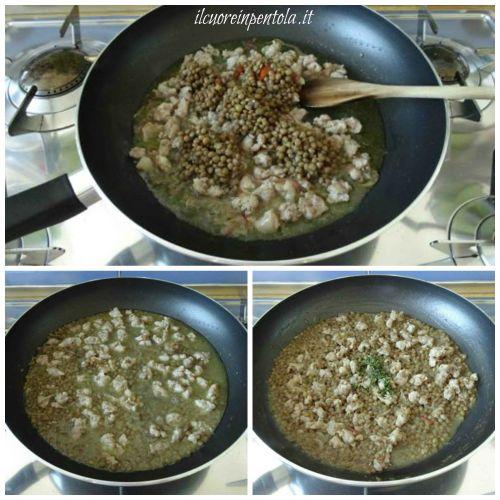 aggiungere lenticchie