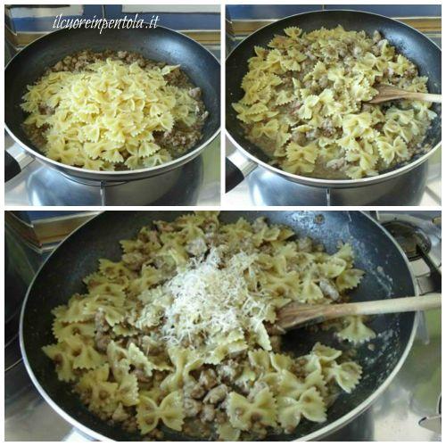 mantecare pasta salsiccia e lenticchie