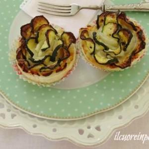 rrose di zucchine e pasta sfoglia