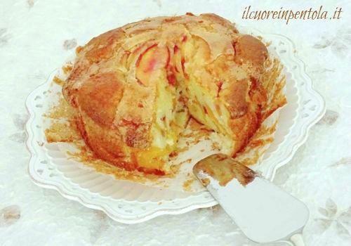 torta alle pesche con olio d'oliva