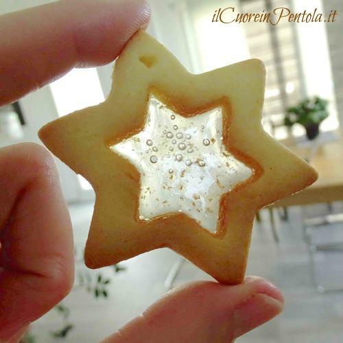 biscotti di vetro stella