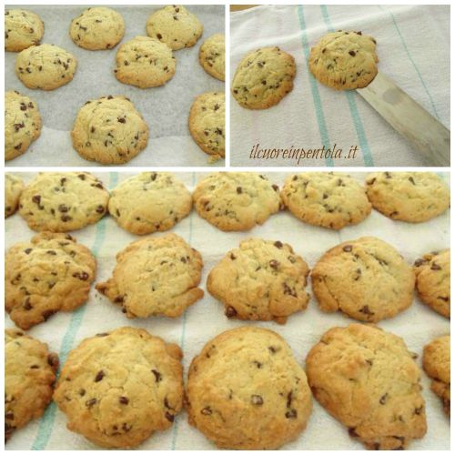 cuocere chocolate chip cookies