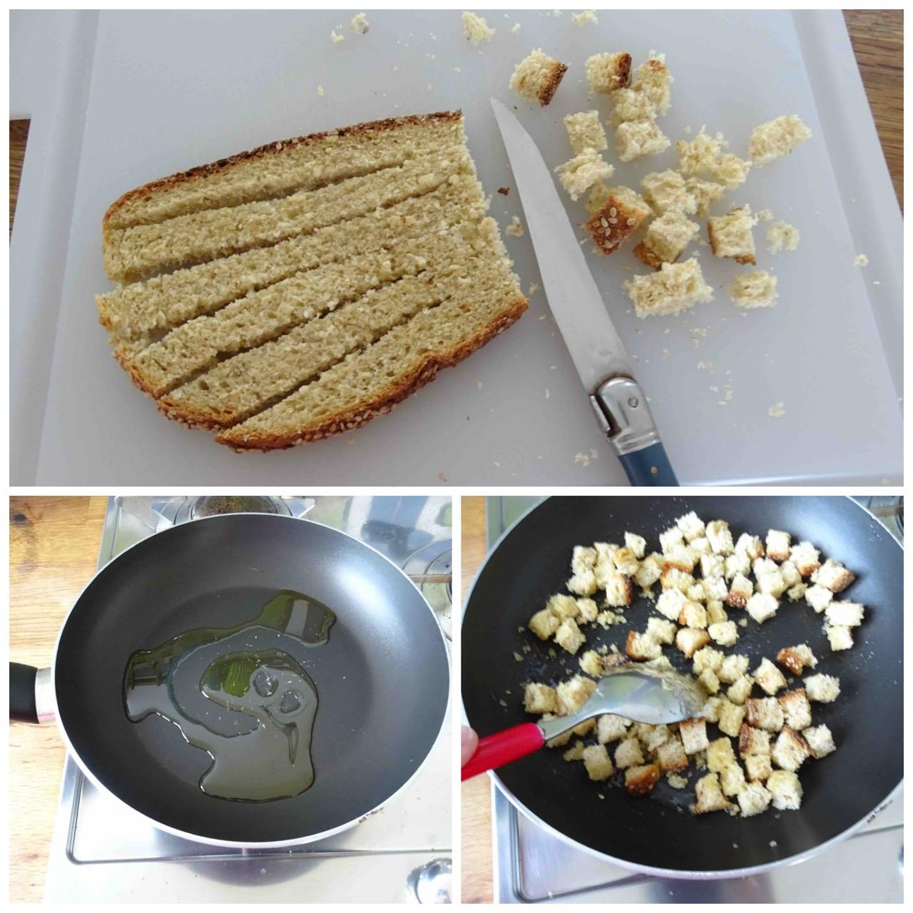 tostare crostini in padella