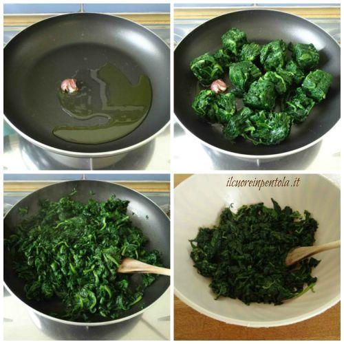 saltare spinaci