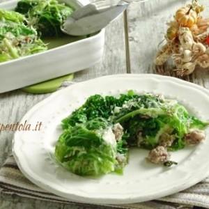 involtini di verza e salsiccia ricetta