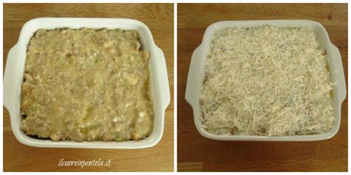 ultimo strato lasagne con parmigiano