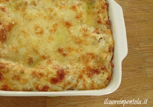 lasagne alla bolognese appena sfornate