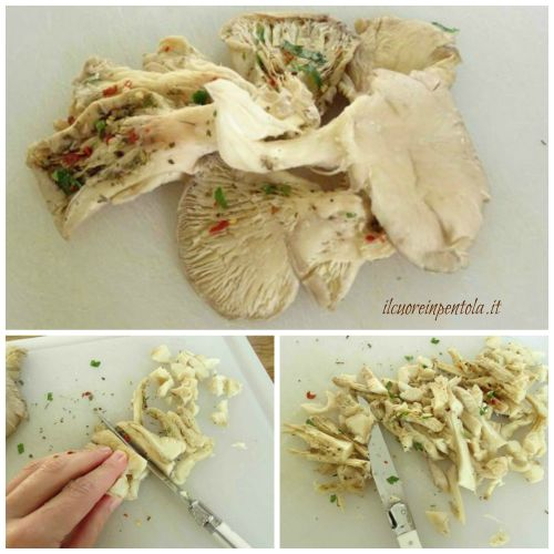 tagliare funghi