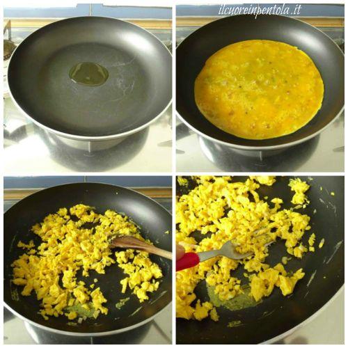 strapazzare le uova