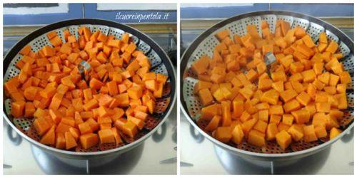 cuocere la zucca a vapore