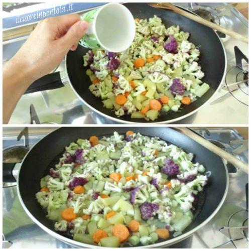 aggiungere ingredienti e lasciare cuocere