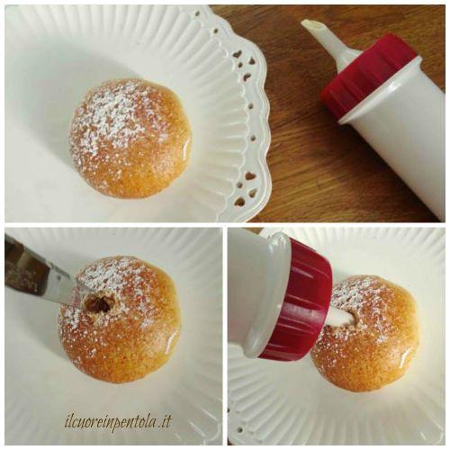farcire brioche alla crema cotte