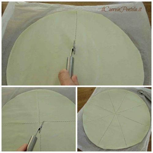 tagliare rotolo pasta sfoglia