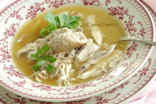 cosce di pollo in brodo ricetta