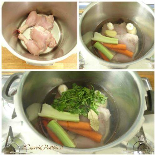 cuocere pollo pentola a pressione