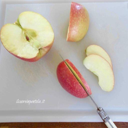 affettare mele