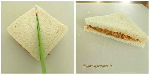 tagliare crostini siciliani