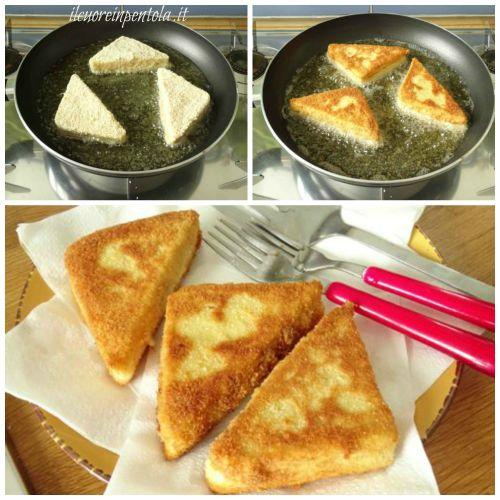 friggere crostini siciliani