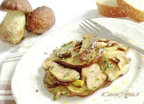 insalata di funghi porcini crudi