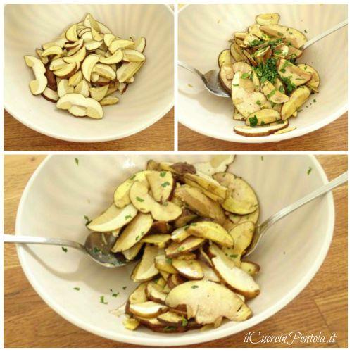 condire insalata di funghi porcini