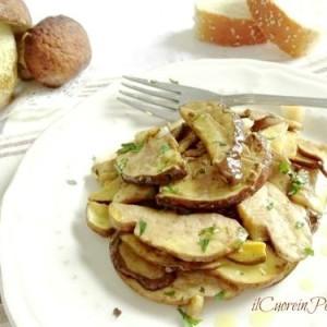 insalata di funghi porcini
