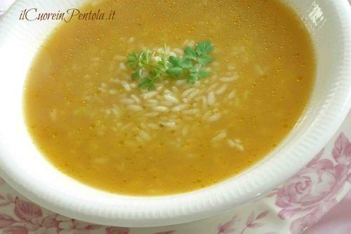 minestra di riso e pollo