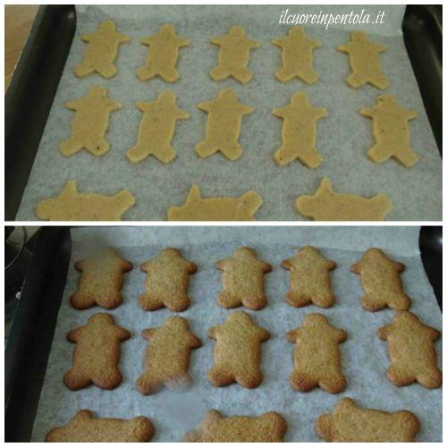 infornare biscotti pan di zenzero