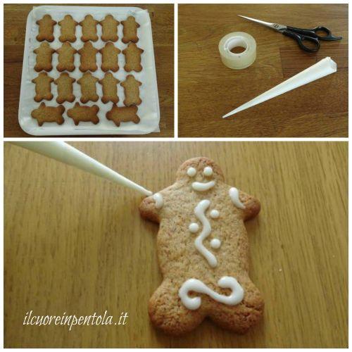 decorare omini di pan di zenzero