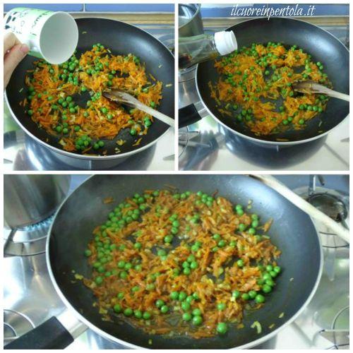 aggiungere curcuma cumino e salsa di soia