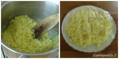 preparare riso per arancine