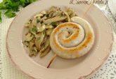 Salsiccia di pollo con funghi