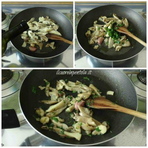 cucinare funghi trifolati