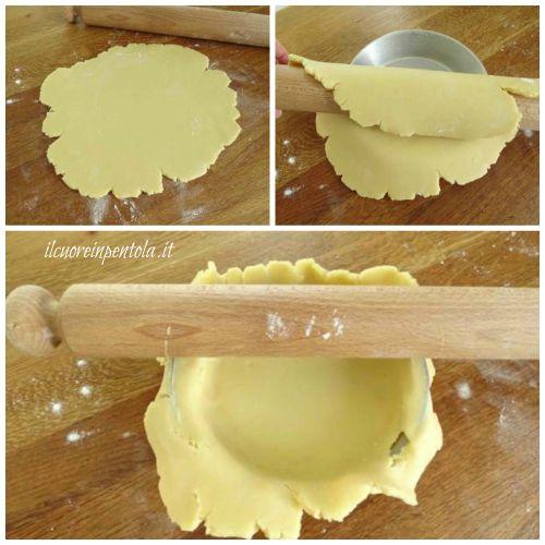 foderare teglia con pasta frolla