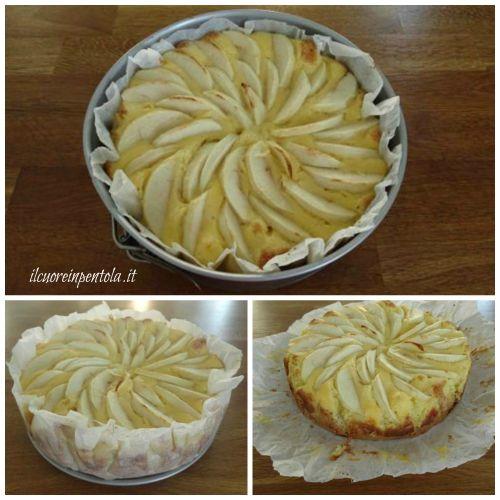 sfornare torta di mele con crema pasticcera