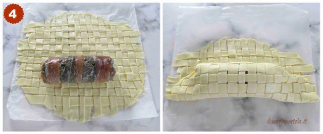 avvolgere cotechino nella pasta brisèe