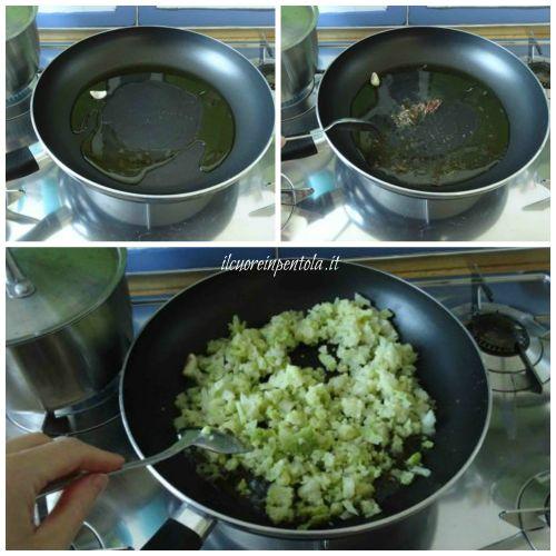 soffriggere aglio e acciughe